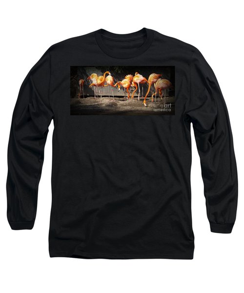 Flamingo Hangout Long Sleeve T-Shirt