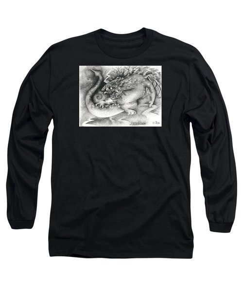 Long Sleeve T-Shirt featuring the drawing Real Fake News Flash Bulletin by Dawn Sperry
