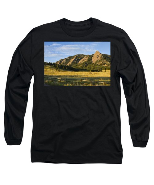 Flatirons From Chautauqua Park Long Sleeve T-Shirt