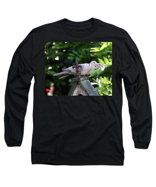 Long Sleeve T-Shirt featuring the photograph Fleur De Lis Dove Love by Luana K Perez
