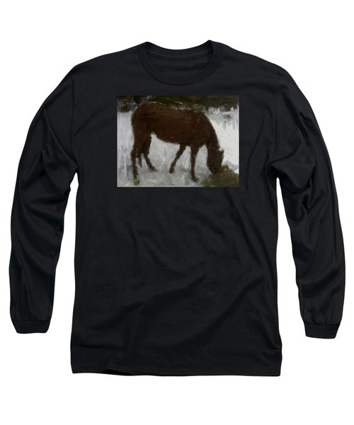 Long Sleeve T-Shirt featuring the painting Flicka by Bruce Nutting