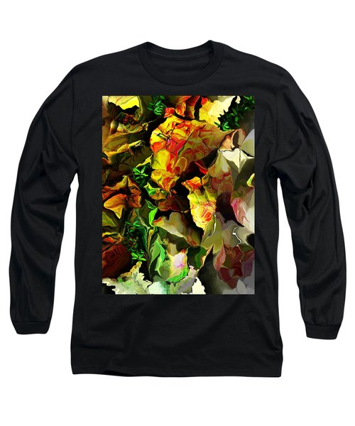 Long Sleeve T-Shirt featuring the digital art Floral 082114 by David Lane