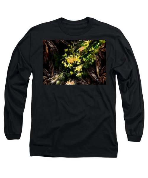 Long Sleeve T-Shirt featuring the digital art Floral Expression 020215 by David Lane
