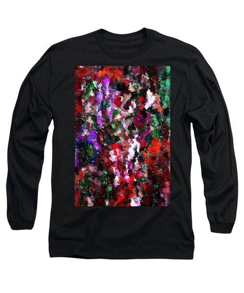 Floral Expression 021015 Long Sleeve T-Shirt by David Lane