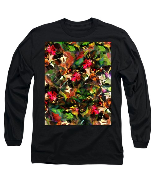 Long Sleeve T-Shirt featuring the digital art Floral Expression 121914 by David Lane