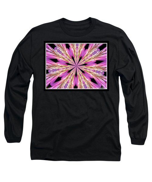 Long Sleeve T-Shirt featuring the photograph Floral Kaleidoscope  Waterlily by Rose Santuci-Sofranko