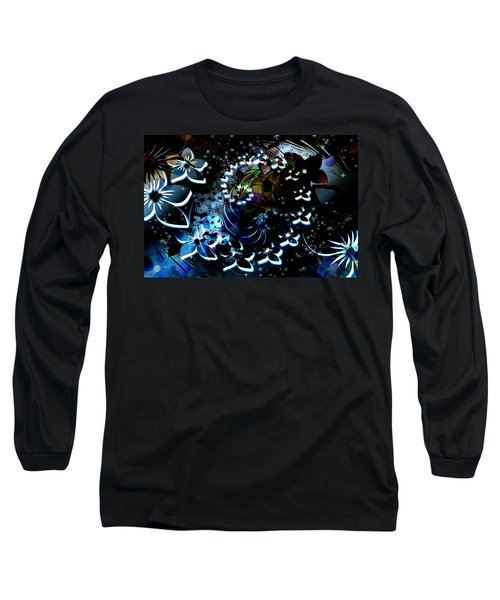Long Sleeve T-Shirt featuring the digital art Floral Way by Paula Ayers