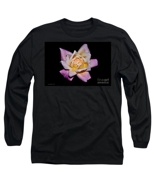 Long Sleeve T-Shirt featuring the photograph Floribunda Rose In Full Bloom by Susan Wiedmann