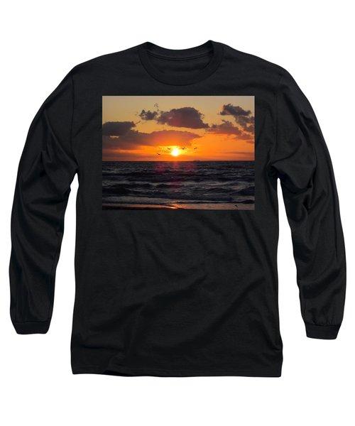 Florida Sunrise Long Sleeve T-Shirt by MTBobbins Photography