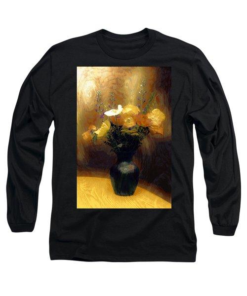 Long Sleeve T-Shirt featuring the mixed media Flourish  by Aaron Berg