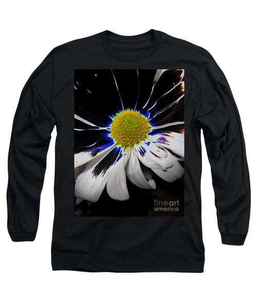 Art. White-black-yellow Flower 2c10  Long Sleeve T-Shirt