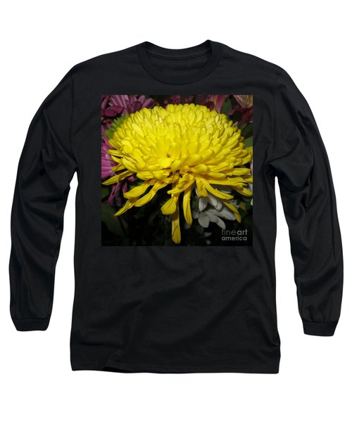 Yellow Queen. Beautiful Flowers Collection For Home Long Sleeve T-Shirt