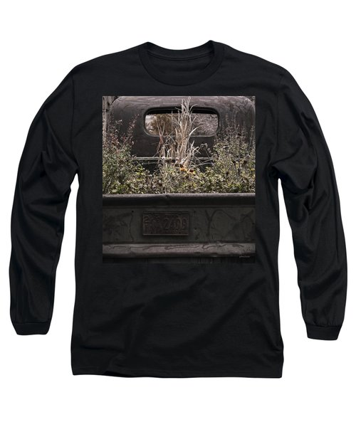 Flower Bed - Nature And Machine Long Sleeve T-Shirt by Steven Milner