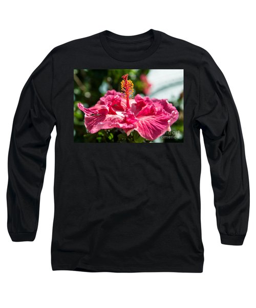 Long Sleeve T-Shirt featuring the photograph Flower Closeup by Yew Kwang
