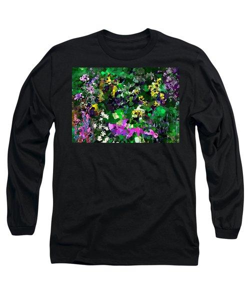Long Sleeve T-Shirt featuring the digital art Flower Garden by David Lane