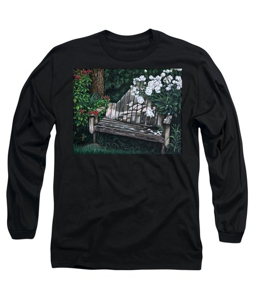 Flower Garden Seat Long Sleeve T-Shirt by Penny Birch-Williams