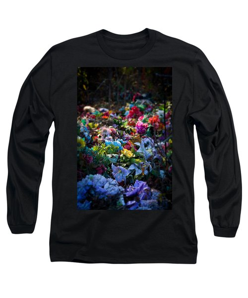 Flower Graveyard Long Sleeve T-Shirt by Melinda Fawver