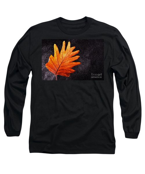 Flower Grows In Rain Long Sleeve T-Shirt by Manjot Singh Sachdeva