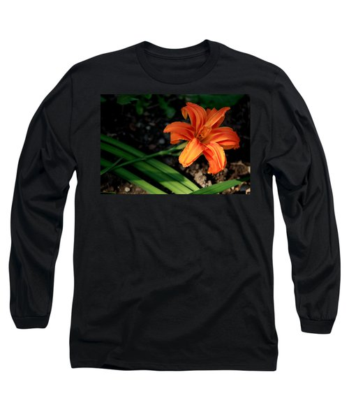 Flower In Backyard Long Sleeve T-Shirt