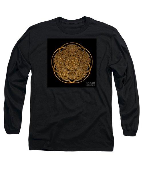 Flower Of Life Long Sleeve T-Shirt by Olga Hamilton