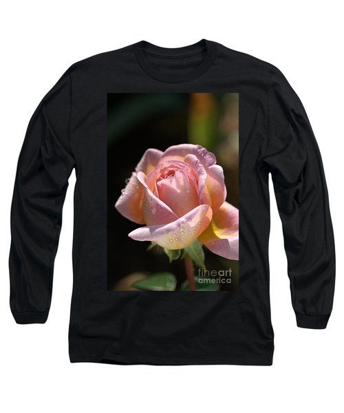 Flower-pink And Yellow Rose-bud Long Sleeve T-Shirt