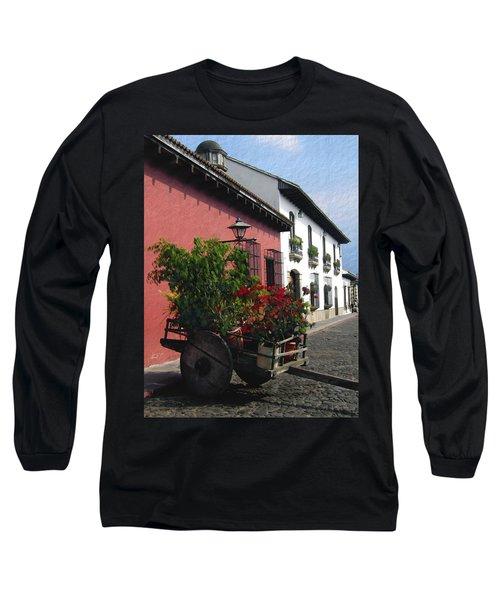 Flower Wagon Antigua Guatemala Long Sleeve T-Shirt