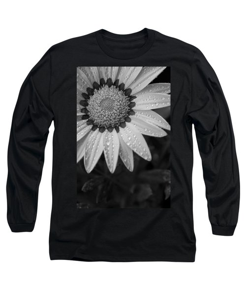 Flower Water Droplets Long Sleeve T-Shirt