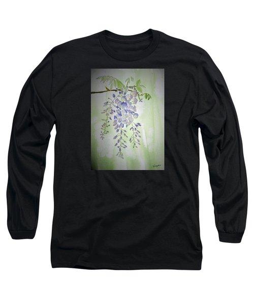 Flowering Wisteria Long Sleeve T-Shirt by Elvira Ingram