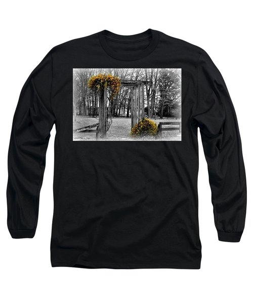 Long Sleeve T-Shirt featuring the photograph Flowering Archway by Tara Potts