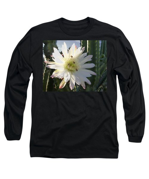 Long Sleeve T-Shirt featuring the photograph Flowering Cactus 5 by Mariusz Kula