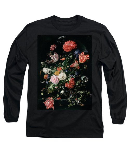 Flowers In A Glass Vase, Circa 1660 Long Sleeve T-Shirt