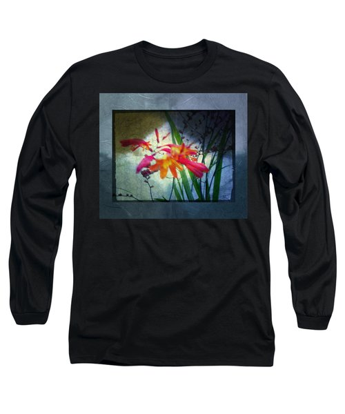 Long Sleeve T-Shirt featuring the digital art Flowers On Parchment by Absinthe Art By Michelle LeAnn Scott
