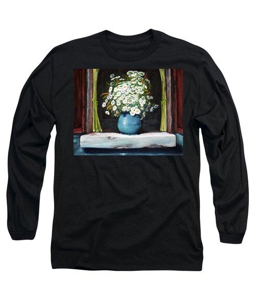 Flowers On The Ledge Long Sleeve T-Shirt