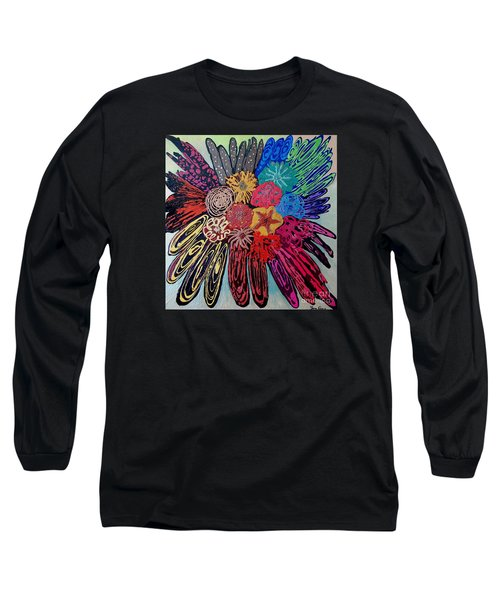 Flowers Burst By Jasna Gopic Long Sleeve T-Shirt