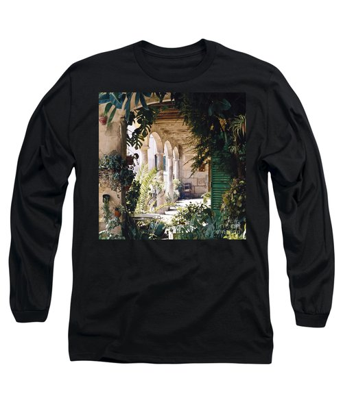 Flowery Majorquin  Patio In Valdemosa Long Sleeve T-Shirt