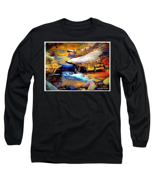 Long Sleeve T-Shirt featuring the photograph Flowing Creek by Tara Potts