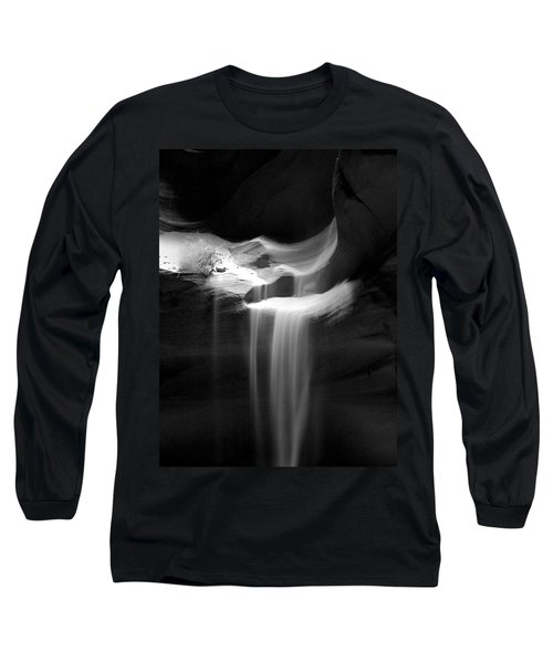 Long Sleeve T-Shirt featuring the photograph Flowing Sand In Antelope Canyon by Lucinda Walter