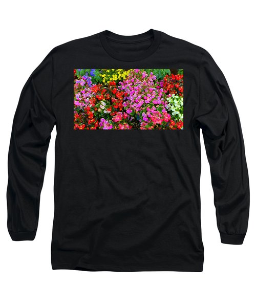 Flwrs Test 1 Long Sleeve T-Shirt by Terence Morrissey