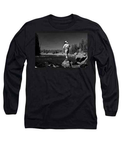 Long Sleeve T-Shirt featuring the photograph Fly Fishing The Box by Ron White