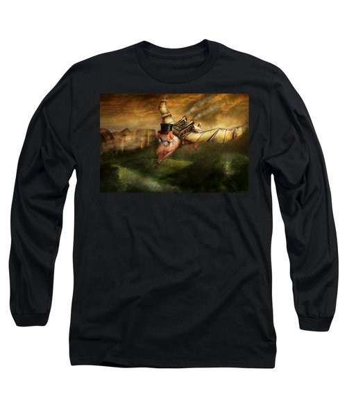 Flying Pig - Steampunk - The Flying Swine Long Sleeve T-Shirt