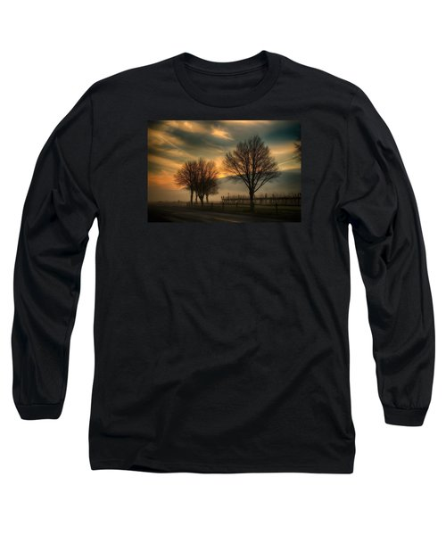 Long Sleeve T-Shirt featuring the photograph Foggy And Dreamy by Lynn Hopwood