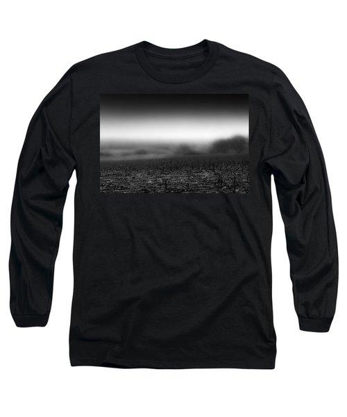 Foggy Field Long Sleeve T-Shirt by Tom Gort