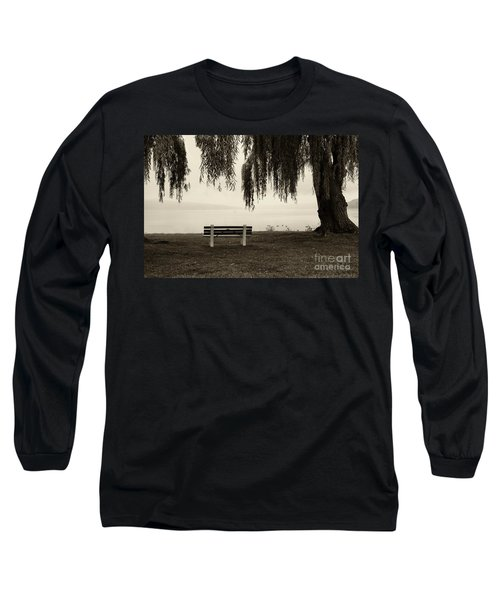 Foggy Morning At Stewart Park Long Sleeve T-Shirt