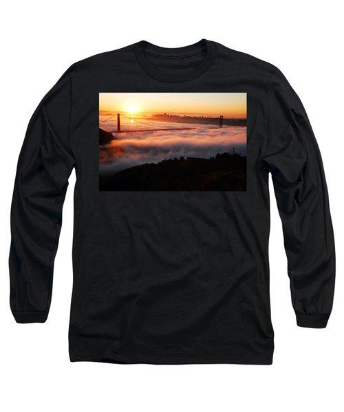 Long Sleeve T-Shirt featuring the photograph Foggy Morning San Francisco by James Kirkikis