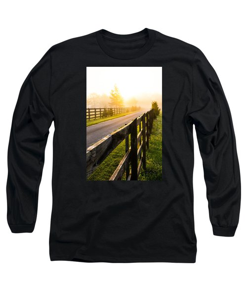 Foggy Morning Long Sleeve T-Shirt by Shelby  Young