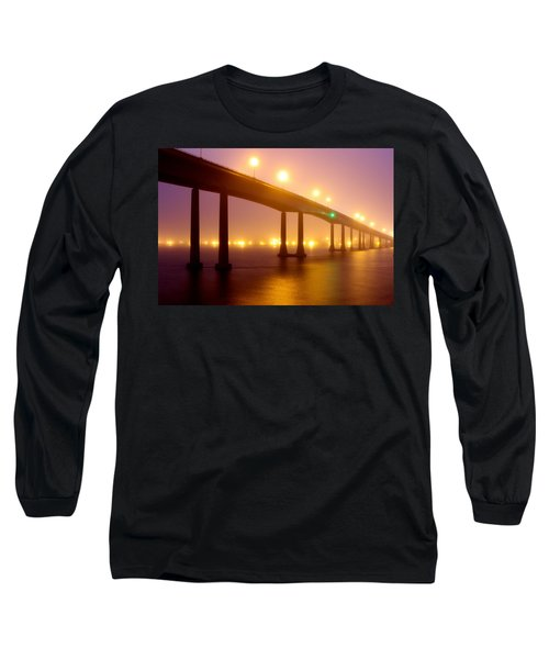 Long Sleeve T-Shirt featuring the photograph Foggy Navy Bridge by Jennifer Casey