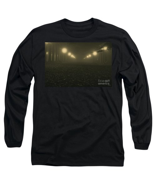 Foggy Night In A Park Long Sleeve T-Shirt