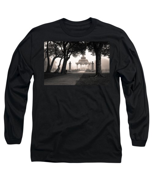 Foggy Tower Grove Long Sleeve T-Shirt by Scott Rackers