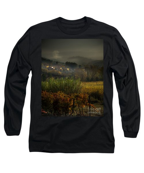 Foggy Tuscan Valley  Long Sleeve T-Shirt