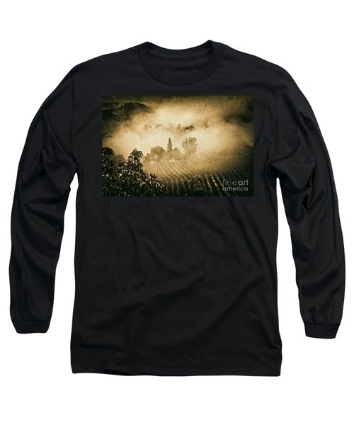 Long Sleeve T-Shirt featuring the photograph Foggy Tuscany by Silvia Ganora